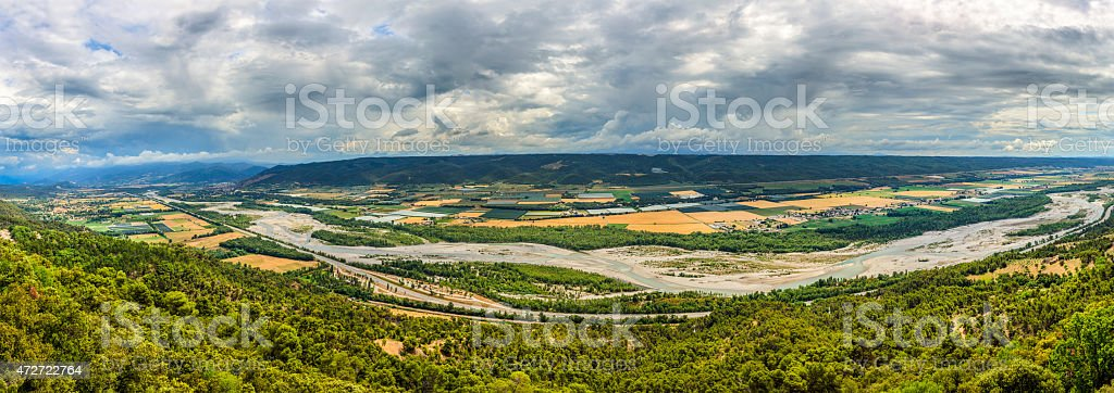 Durance Valley - France stock photo
