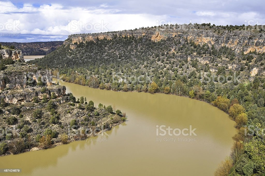 Duraton Canyon Natural Park, in Sepulveda, Spain stock photo