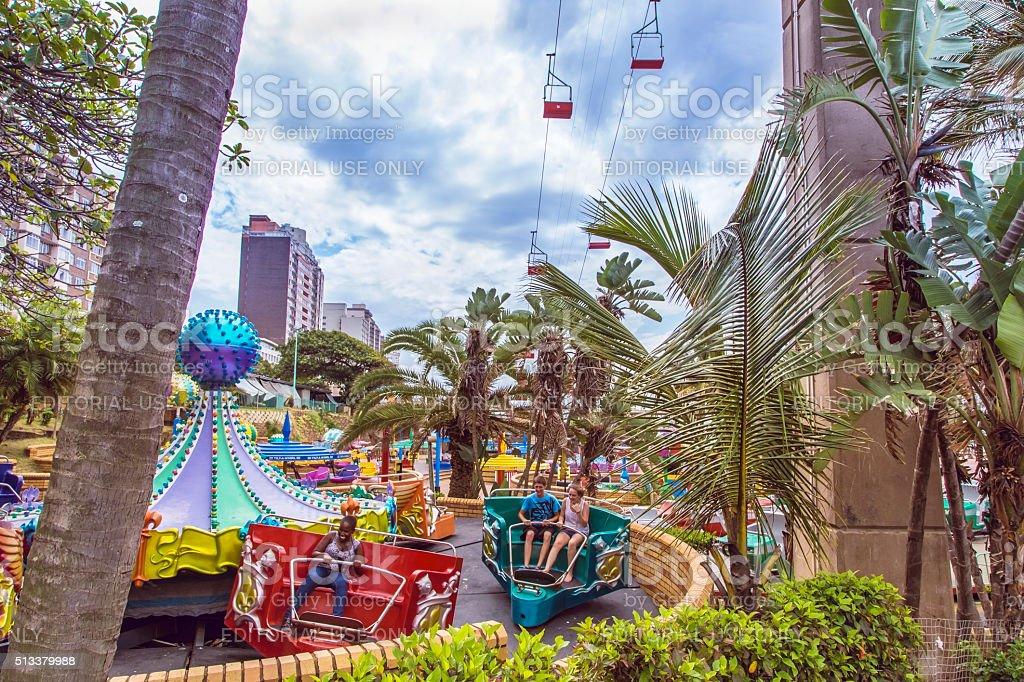 Durban amusement park at the beachfront stock photo