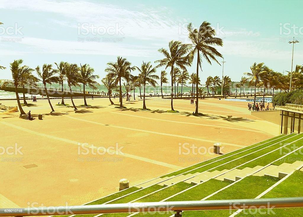 Durban Beach stock photo