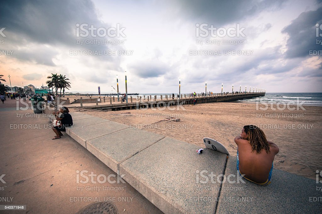 Durban Beachfront stock photo