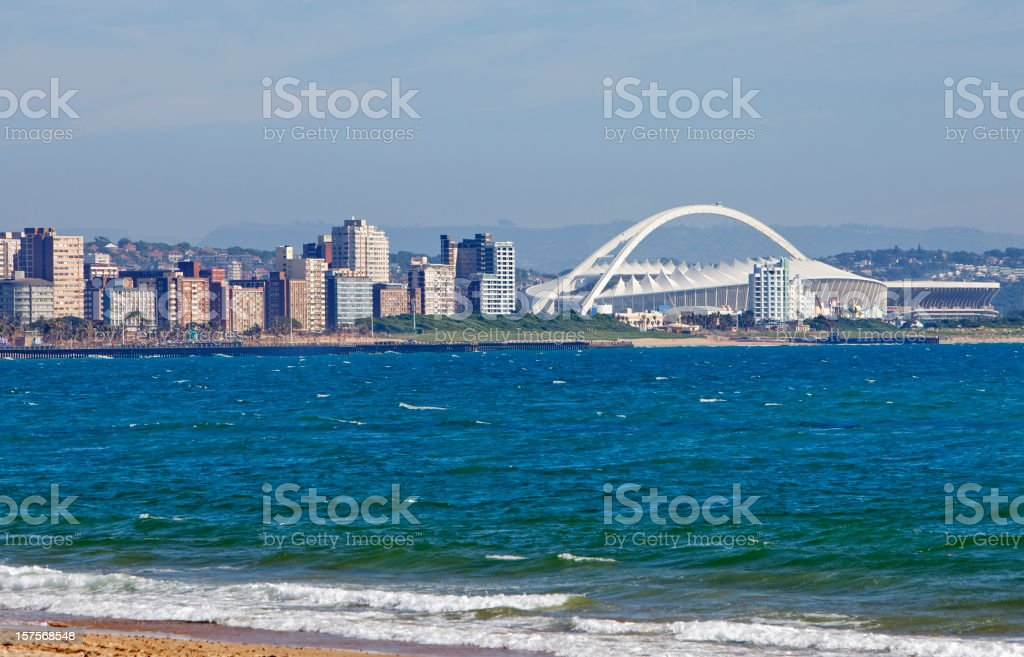 Durban Cityscape with Stadium stock photo