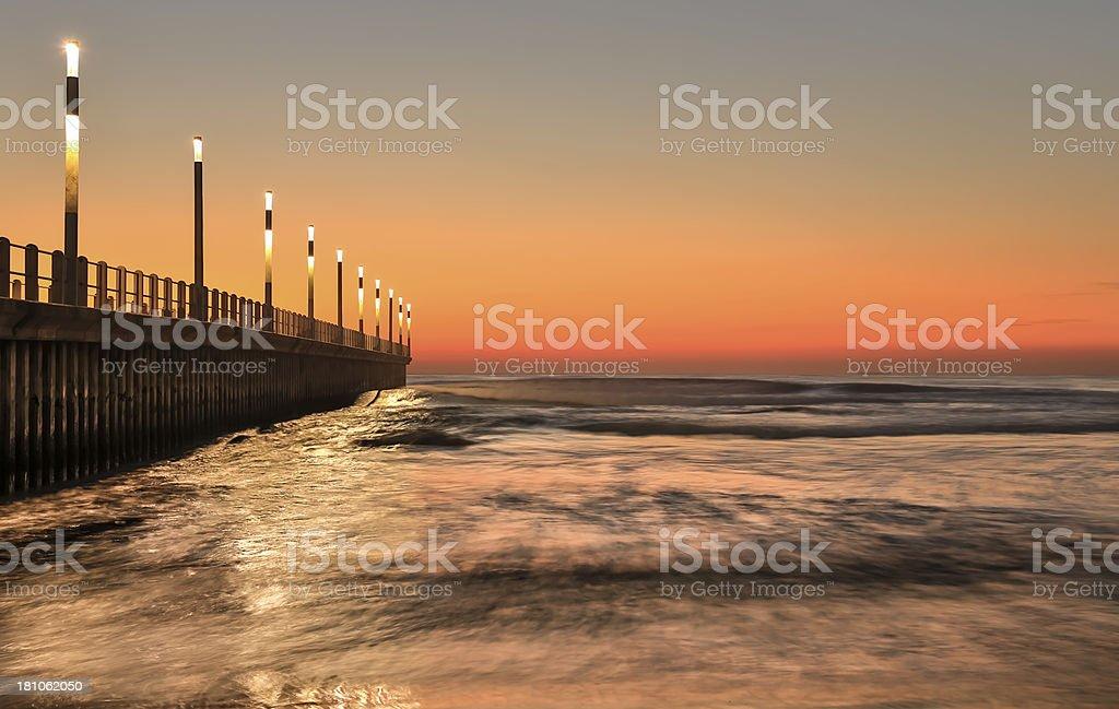 Durban North Beach Pier stock photo