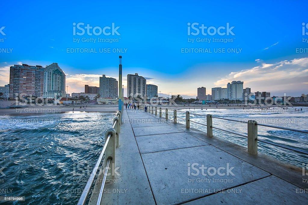 Durban North Pier stock photo