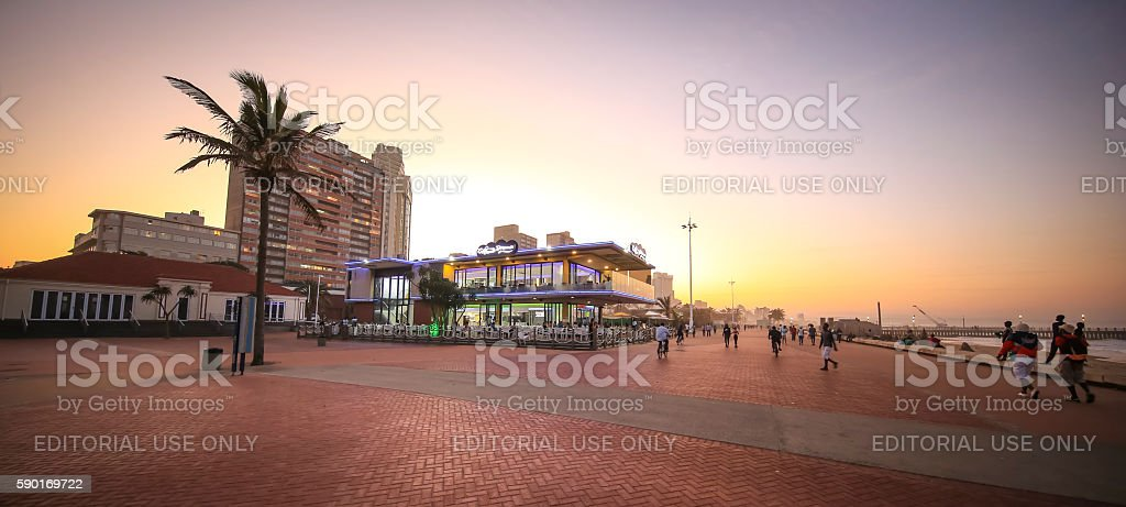 Durban  promenade stock photo
