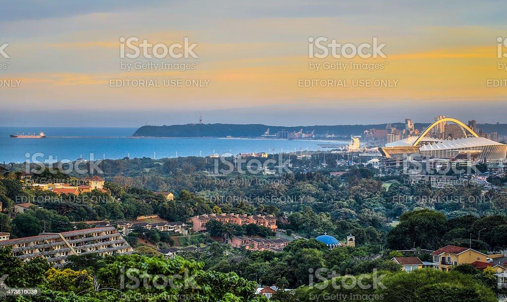Durban Skyline stock photo
