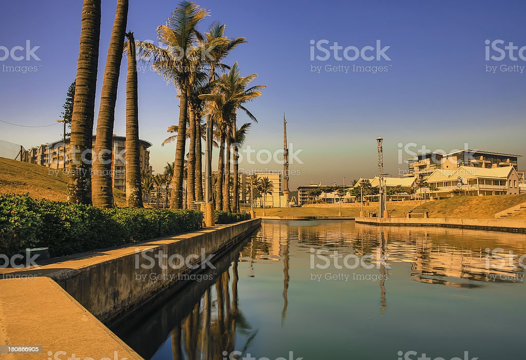 Durban waterfront canals royalty-free stock photo