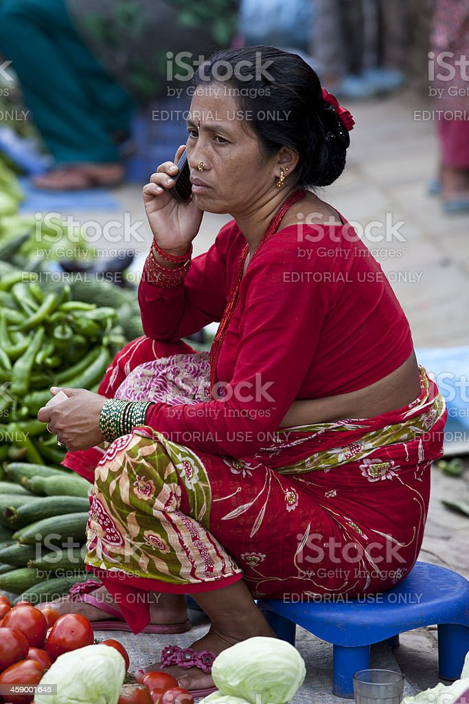 Durbar Square bazaar royalty-free stock photo