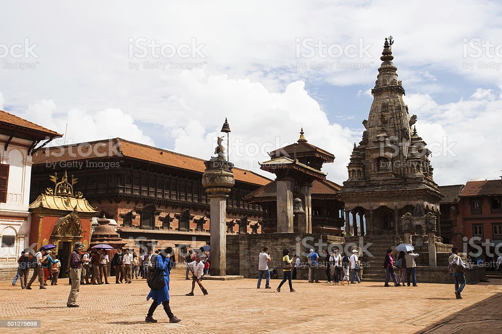 Durbar Square in Bhaktapur, Nepal stock photo