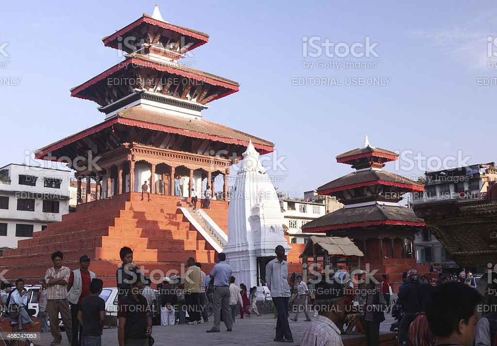 Durbar Square in Kathmandu, Nepal stock photo