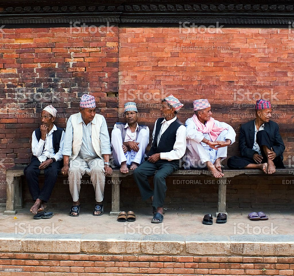 Durbar Square in Patan, Nepal stock photo