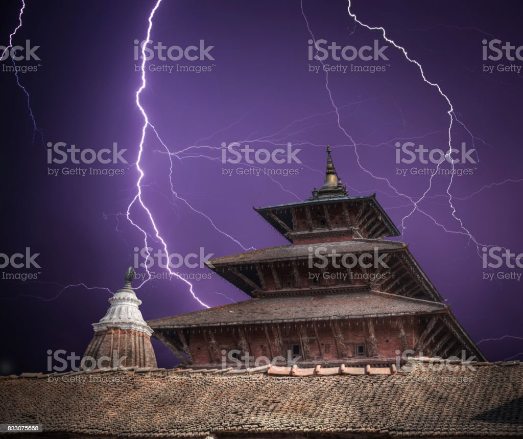 Durbar Square in the center of Kathmandu stock photo
