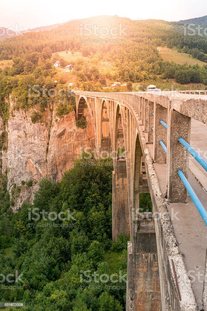 Durdevica arched Tara Bridge stock photo