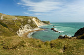 durdle door at a beach in southern uk