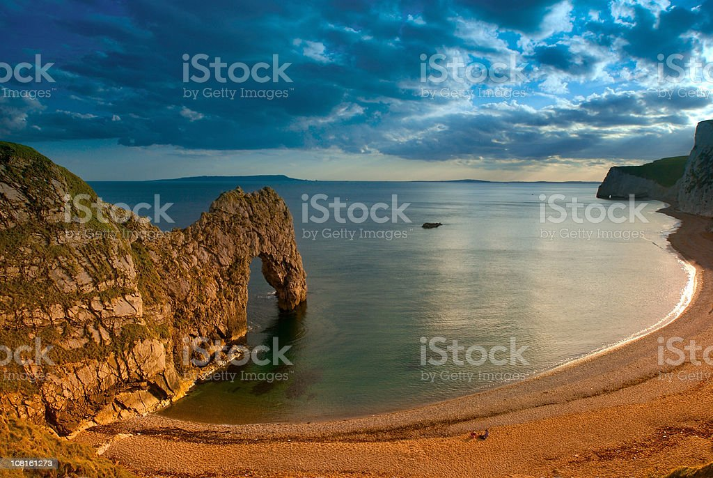 Durdle's Door Cove at Sunset royalty-free stock photo
