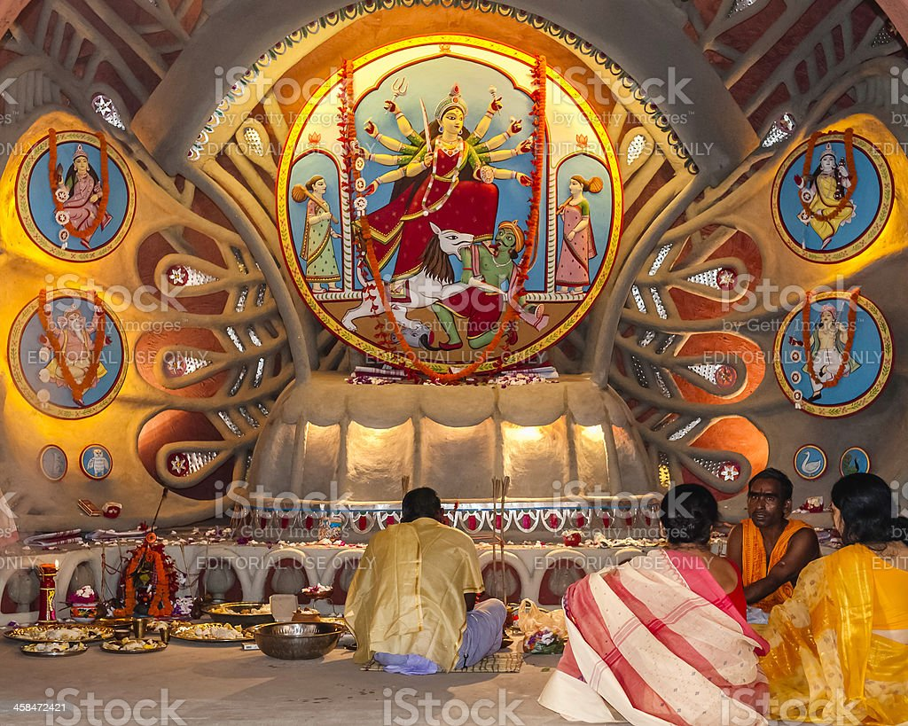 Durga Puja, a pandal, display, Kolkata, India royalty-free stock photo