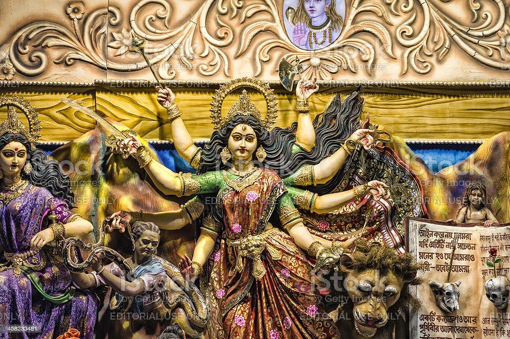 Durga Puja, a pandal, Kolkata, India royalty-free stock photo