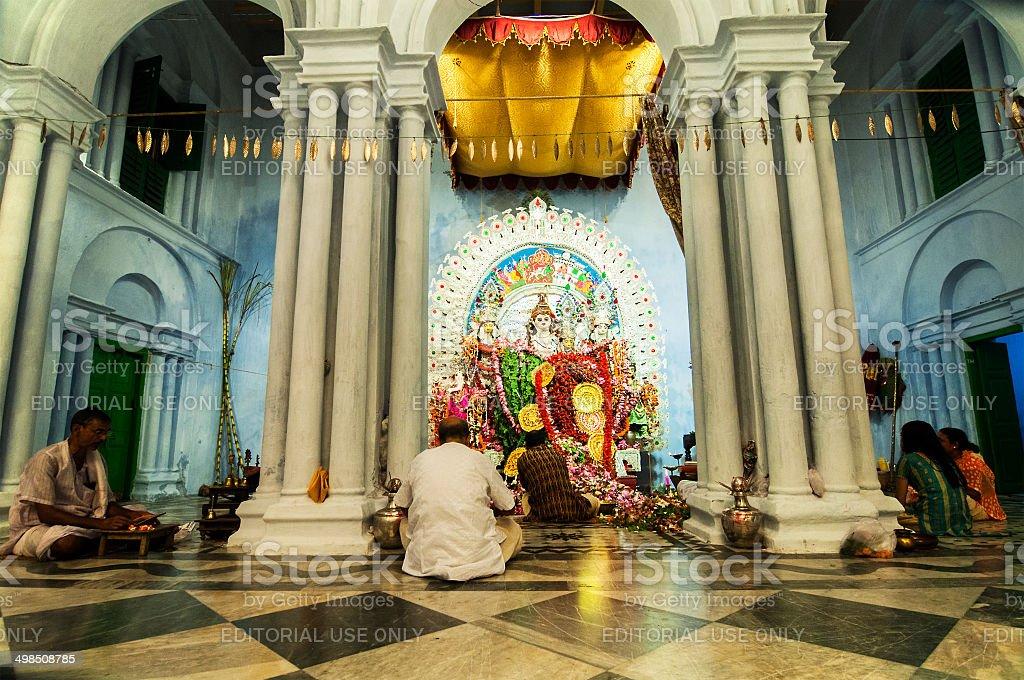 KOLKATA , INDIA - OCTOBER 12, 2013 : Durga Puja festival stock photo