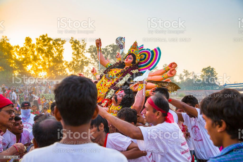 Durga Puja Festival : The immersion Day stock photo