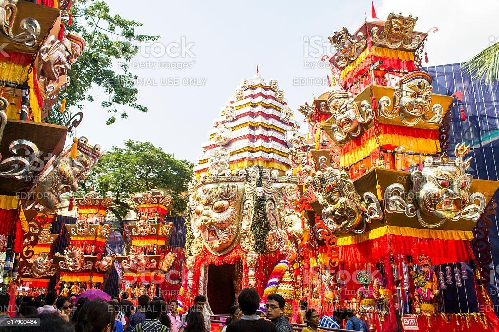 Durga Puja Pandal stock photo