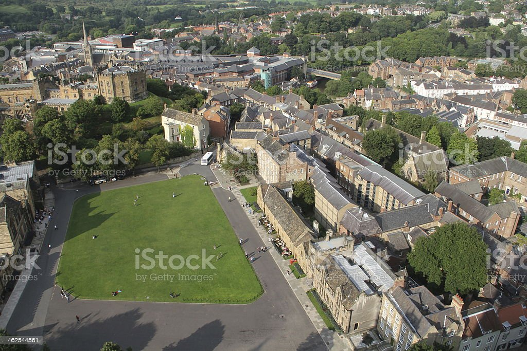 Durham Castle and City stock photo