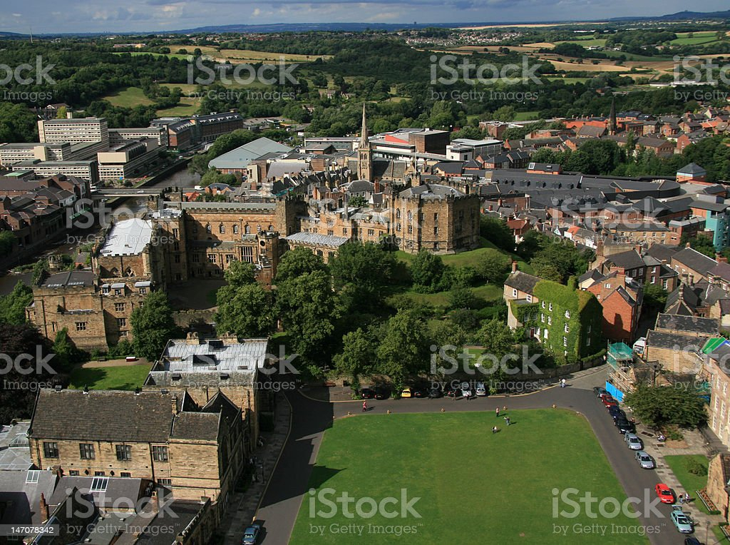 Durham Castle and Town stock photo