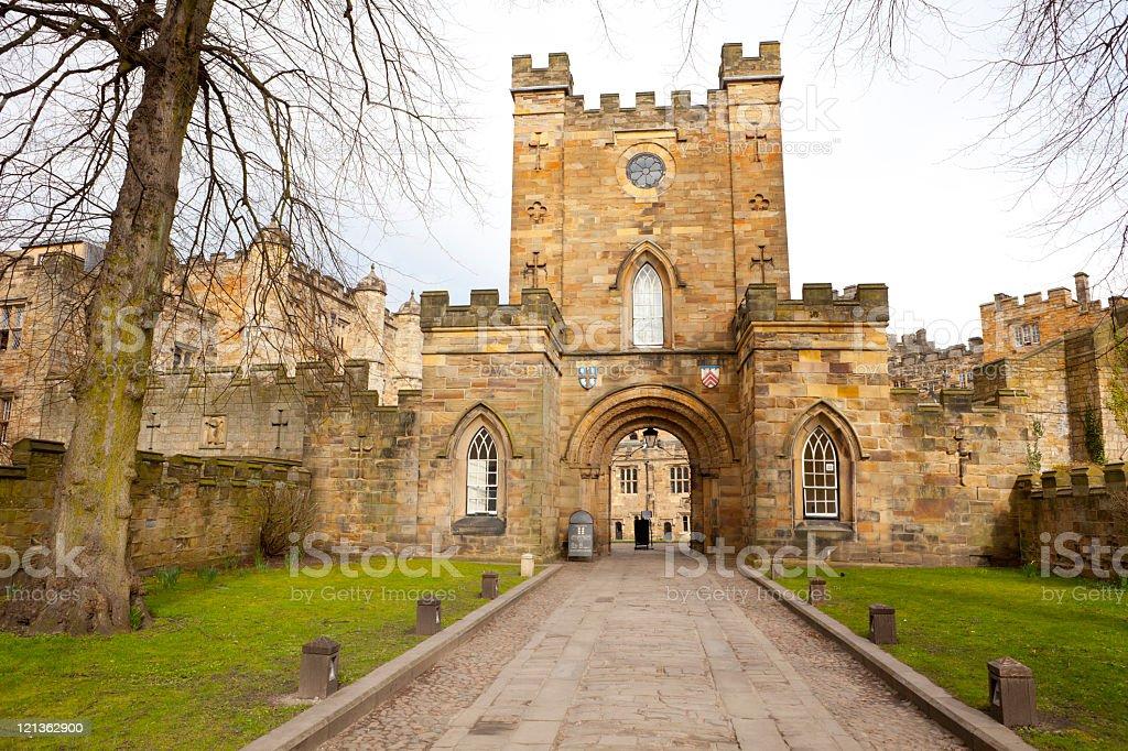 Durham Castle Gate stock photo