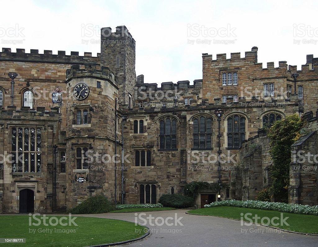 Durham castle stock photo