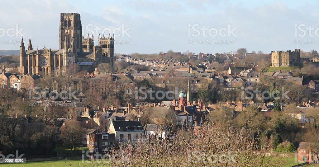 Durham Cathedral and Castle (UK) stock photo