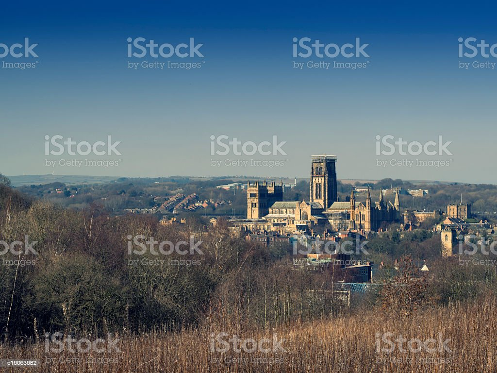 Durham Cathedral and Castle stock photo