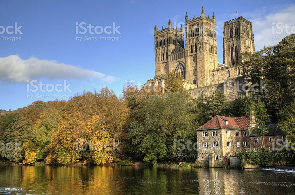 Durham Cathedral and the Old Fulling Mill royalty-free stock photo