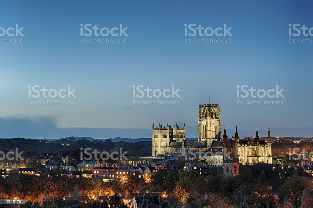 Durham Cathedral by Twilight stock photo