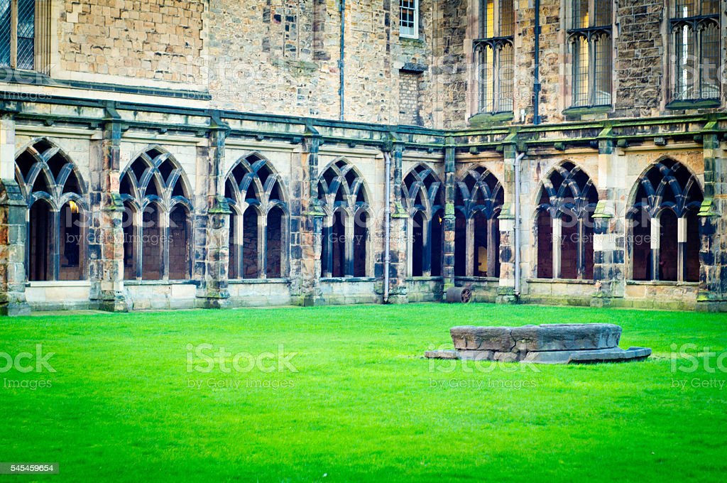Durham Cathedral Cloisters stock photo
