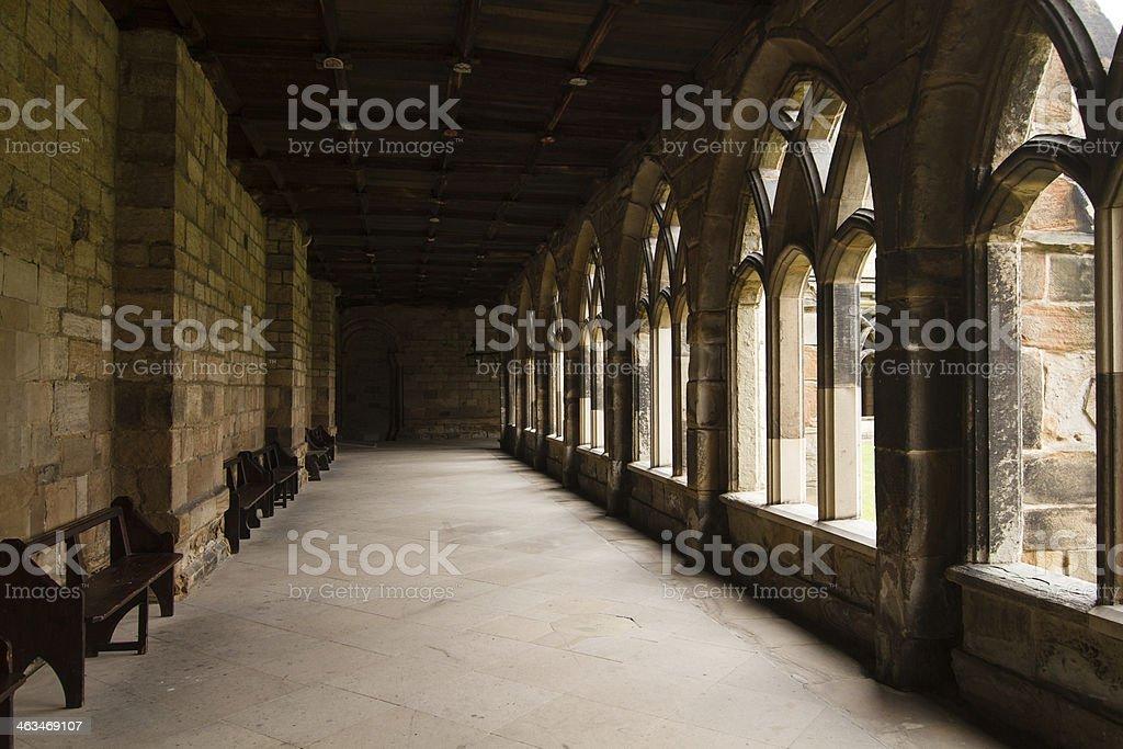 Durham Cathedral corridor stock photo