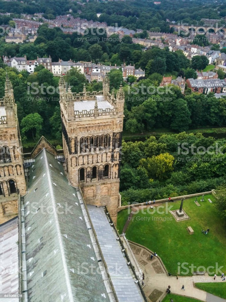 Durham Cathedral from the Tower stock photo