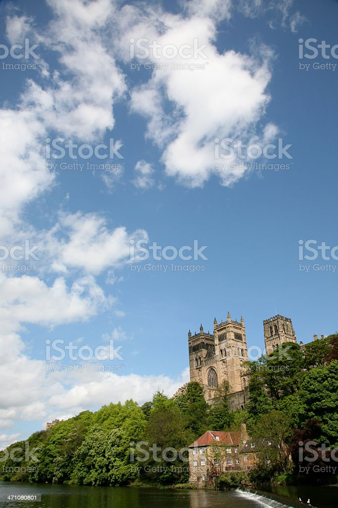 Durham Cathedral in the North East of England stock photo