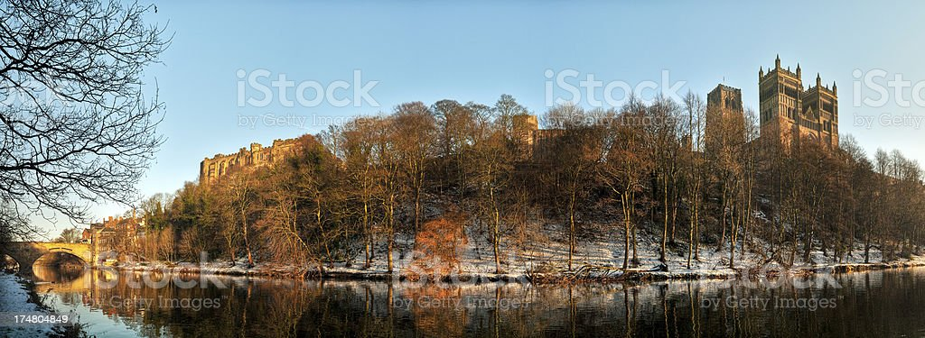 Durham Cathedral, River Wear, Panoramic image stock photo