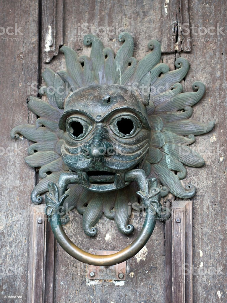 Durham Cathedral Sanctuary Knocker stock photo