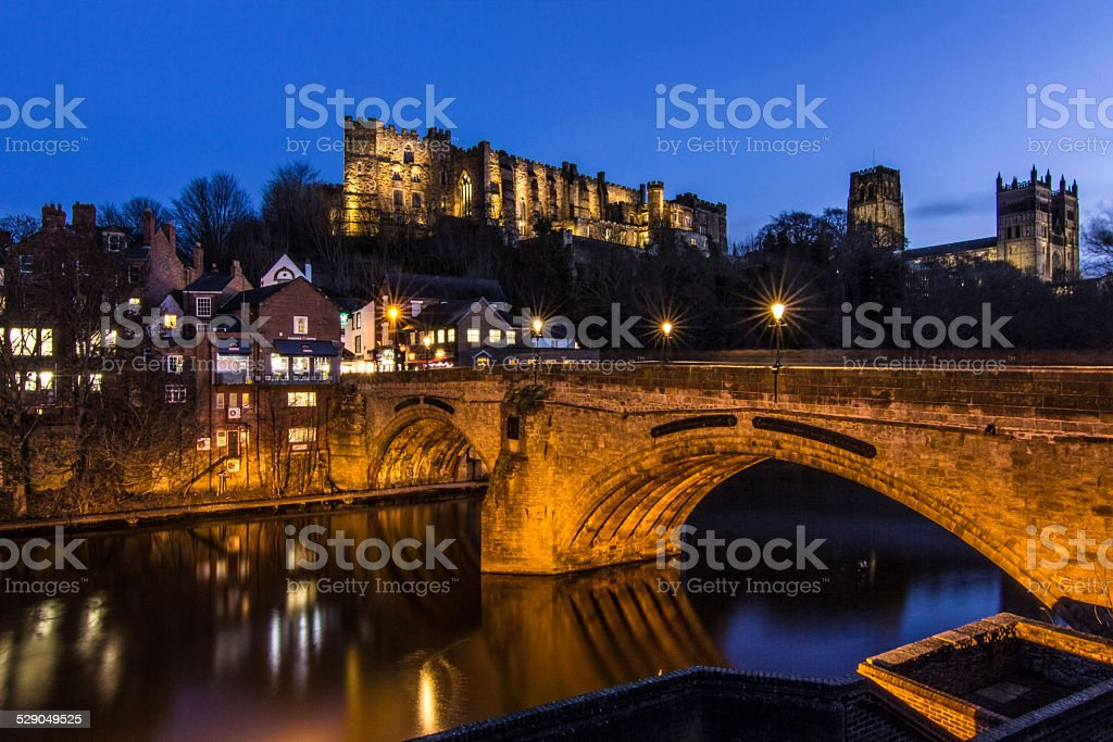 Durham City in Northern England Cityscape stock photo