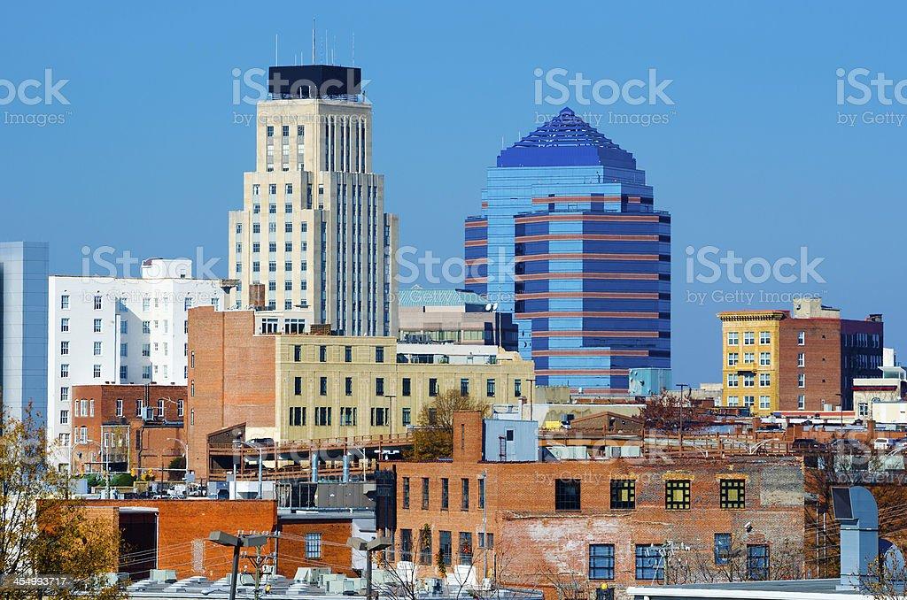 Durham, NC skyline stock photo