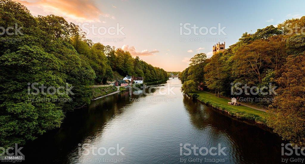 Durham riverside stock photo