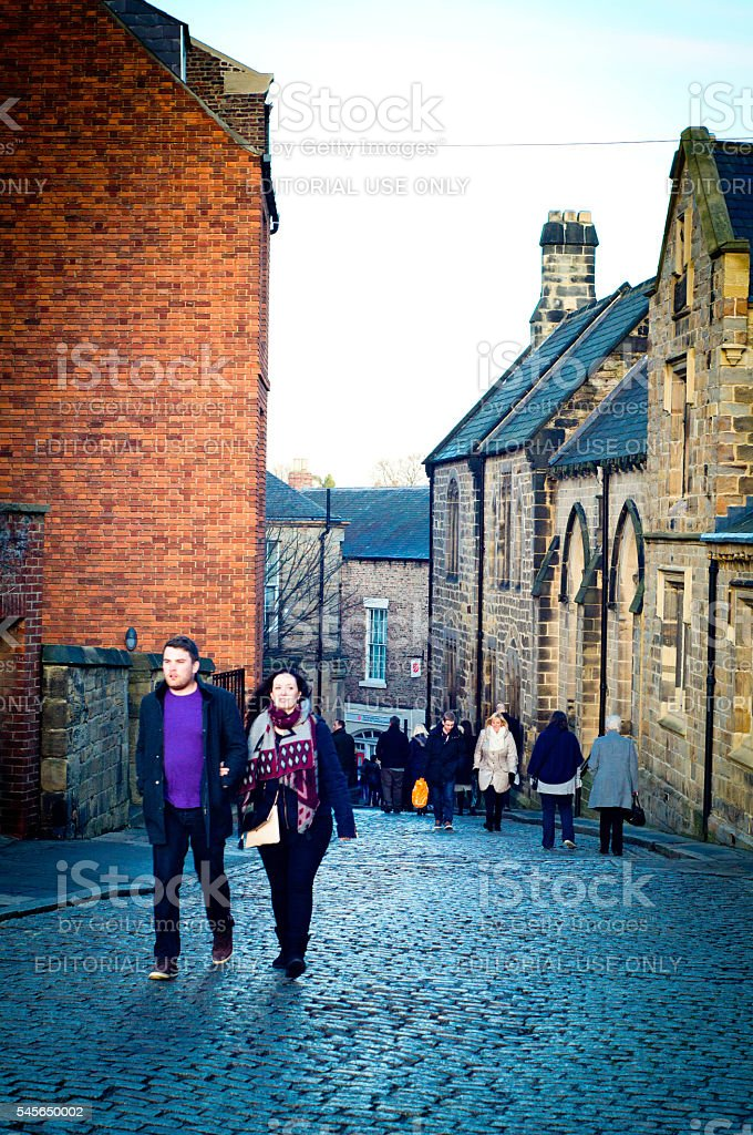 Durham streets stock photo