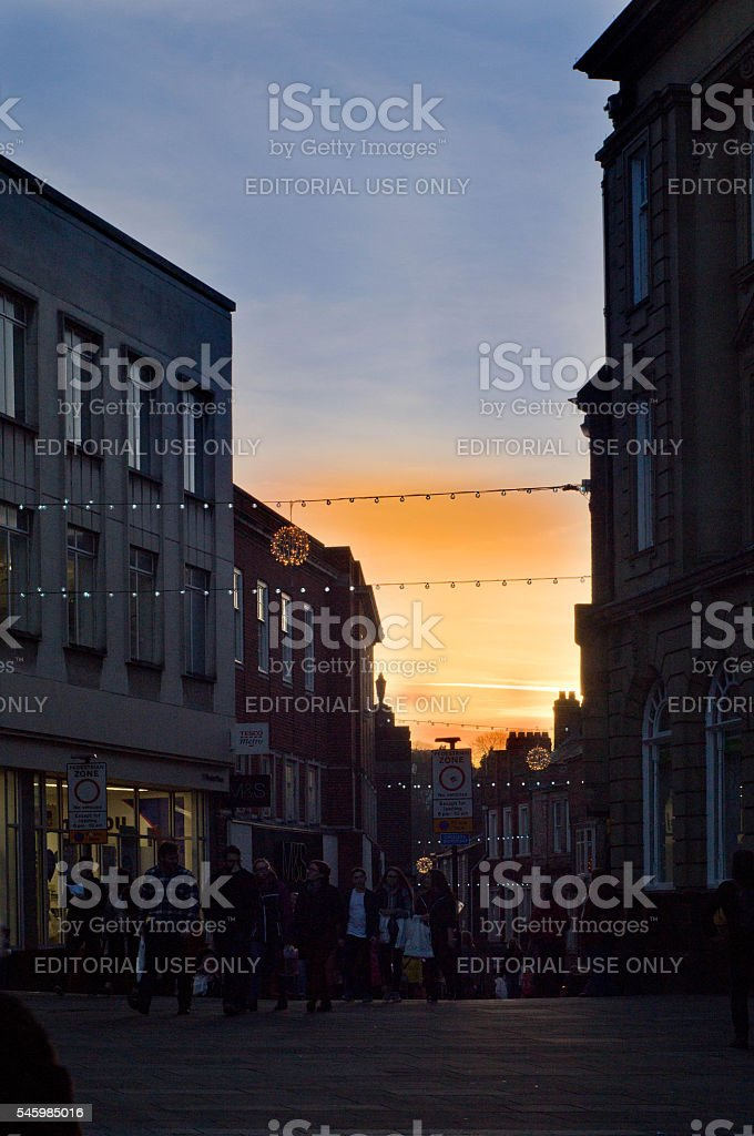 Durham streets stock photo