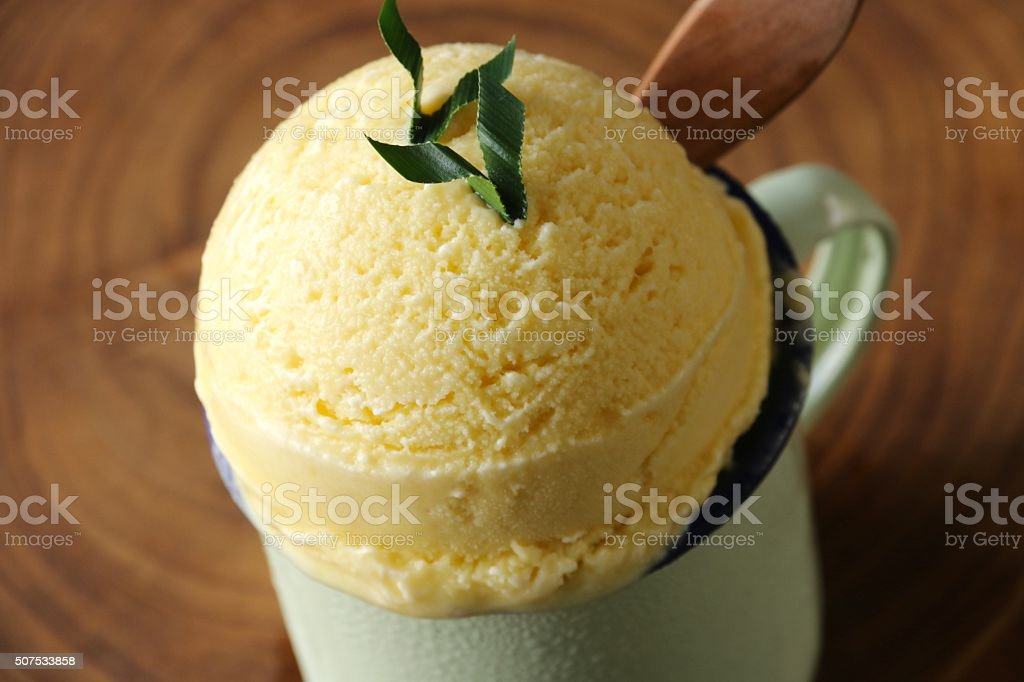 Durian and Coconut Ice Cream stock photo