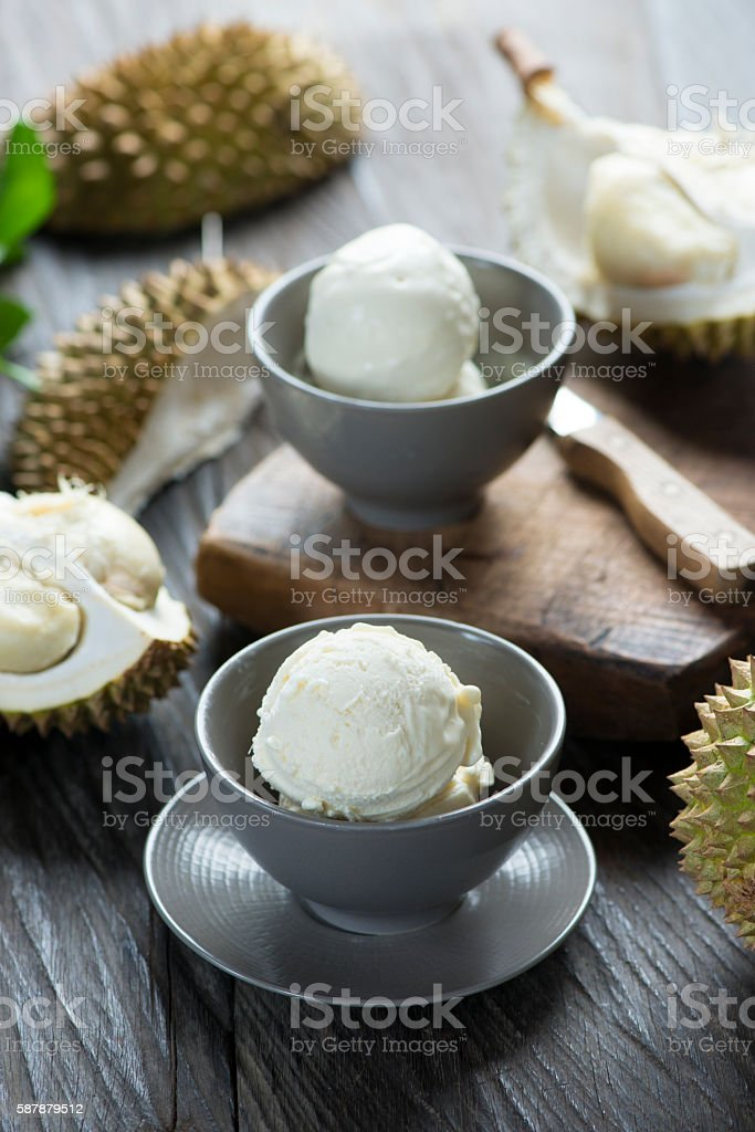 Durian ice cream stock photo