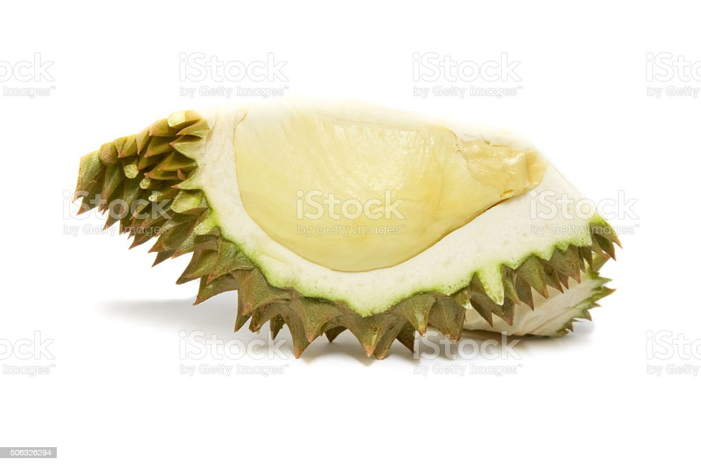 Durian isolated on white background stock photo