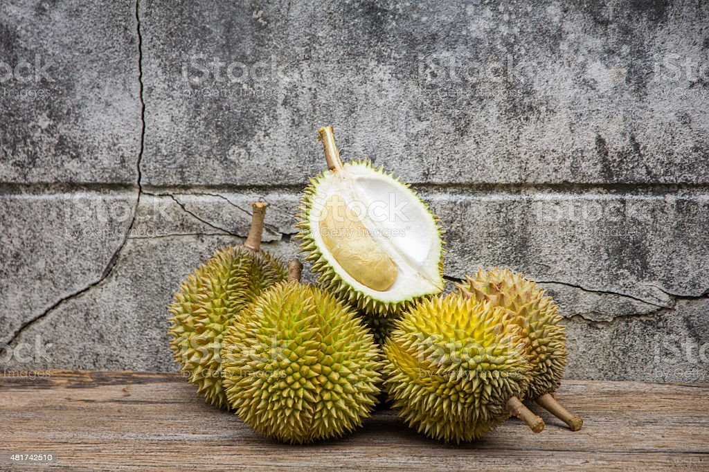 durian, king of fruit stock photo