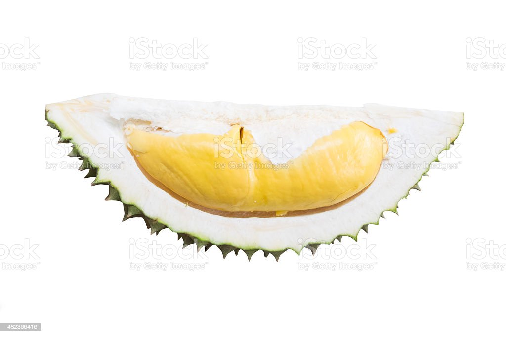 Durian king of fruits isolated stock photo