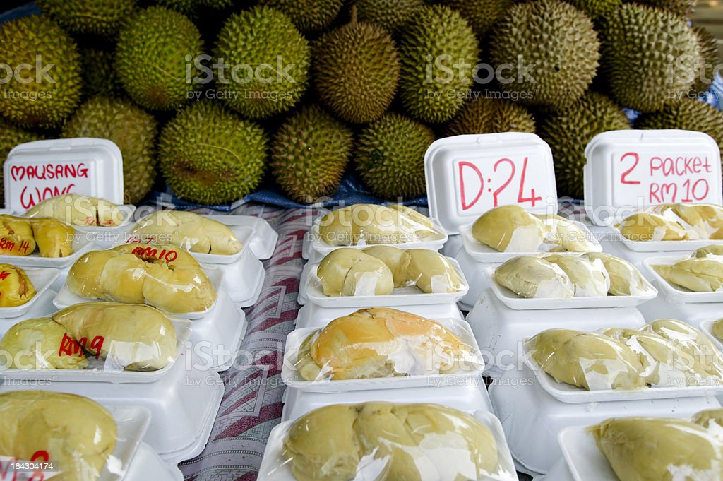 durian tropical fruit stock photo