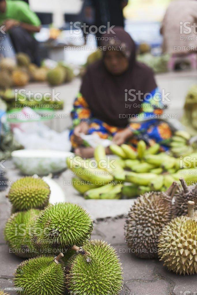 Durian tropical fruit. stock photo